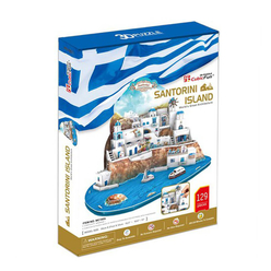 Santorini Adası 129 Parça 3D Puzzle MC195H - Thumbnail