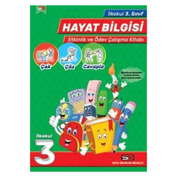 SBM 3. Sınıf Hayat Bilgisi Etkinlik ve Ödev Çalışma Kitabı