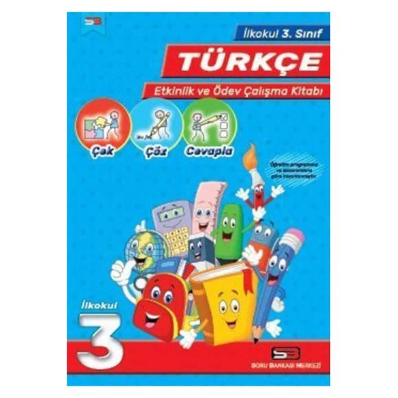 SBM 3. Sınıf Türkçe Etkinlik ve Ödev Çalışma Kitabı