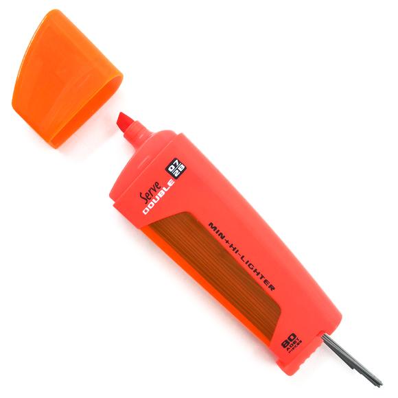 Serve Double Fosforlu Kalem + Kalem Ucu 2B 0.7 mm Kırmızı