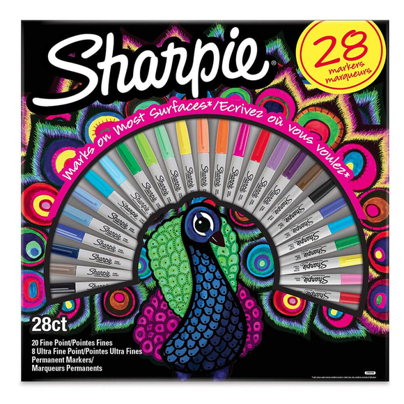 Sharpie Fine Permanent Markör Tavus Kuşu 28 Renk 2058158