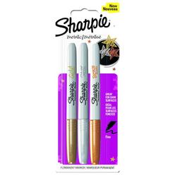 Sharpie Metalik Permanent Marker 3 Renk 1849114 - Thumbnail