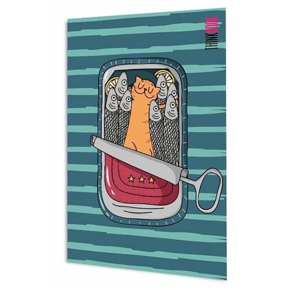 Şirin Kedi Serisi - Mutlu Kedi 13,5x19,5 cm