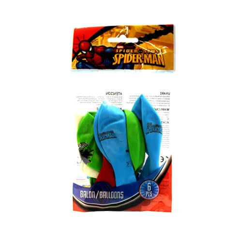 Spiderman Balon 6'lı