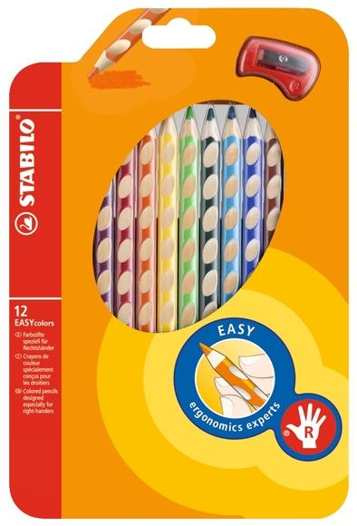 Stabilo Easy Colors Kuru Boya Kalemi 12 Renk Sağ El 332/12