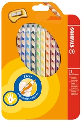 Stabilo Easy Colors Kuru Boya Kalemi 12 Renk Sol El 331/12 - Thumbnail