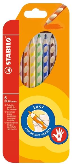 Stabilo Easy Colors Kuru Boya Kalemi 6 Renk Sağ El 332/6