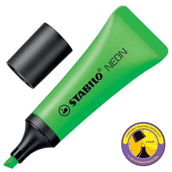 Stabilo Neon Fosforlu Kalem Yeşil 72/33