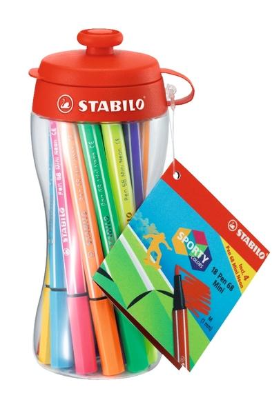 Stabilo Pen 68 Mini Drinking Bottle 18 Renk 668/18-04