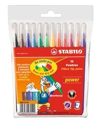 Stabilo Power Keçeli Kalem 12 Renk 280/12-01 - Thumbnail