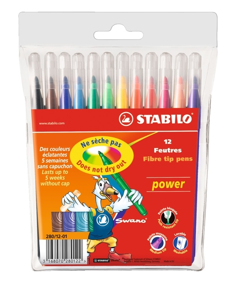 Stabilo Power Keçeli Kalem 12 Renk 280/12-01