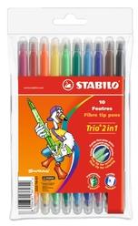Stabilo Trio 2in1 Çift Uçlu Keçeli Kalem 10 Renk 222/10-01 - Thumbnail
