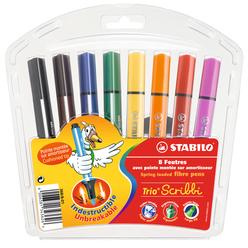 Stabilo Trio Scribbi Yaylı Uçlu 8 Renk Askılı Paket 368/8-01 - Thumbnail