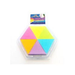Stickn Yapışkanlı Not Kağıdı 43X50 Üçgen 6 Neon Renk Mix Renk 150 Yaprak 2136900 - Thumbnail