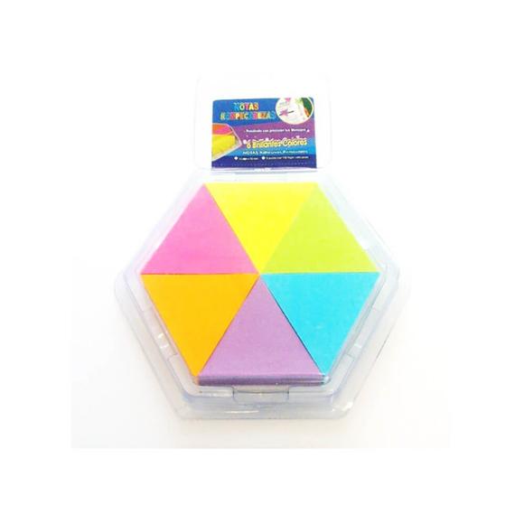 Stickn Yapışkanlı Not Kağıdı 43X50 Üçgen 6 Neon Renk Mix Renk 150 Yaprak 2136900