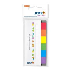Stickn Yapışkanlı Not Kağıdı 50X20 Kapaklı 6 Gökkuşağı Renk 180 Yaprak 2159800 - Thumbnail
