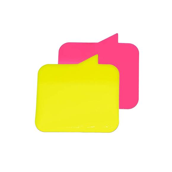 Stickn Yapışkanlı Not Kağıdı 76X76 Konuşma Balonu Yarı Saydam 2 Neon Renk 60 Yaprak 2113800