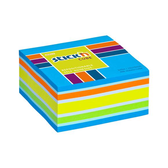 Stickn Yapışkanlı Not Kağıdı 76X76 Küp Blok 5-B Mix Renk 400 Yaprak 2153800