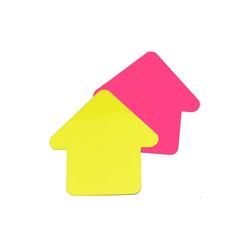 Stickn Yapışkanlı Not Kağıdı 76X76 Ok Şekil Yarı Saydam 2 Neon Renk 60 Yaprak 2113600 - Thumbnail