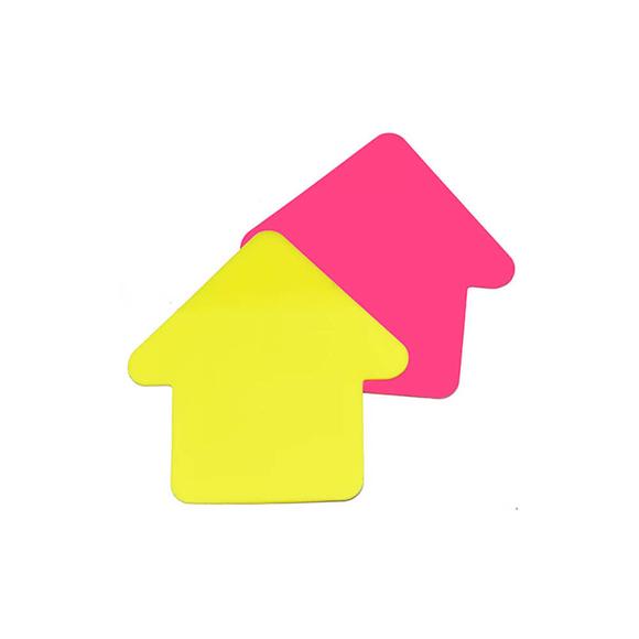 Stickn Yapışkanlı Not Kağıdı 76X76 Ok Şekil Yarı Saydam 2 Neon Renk 60 Yaprak 2113600