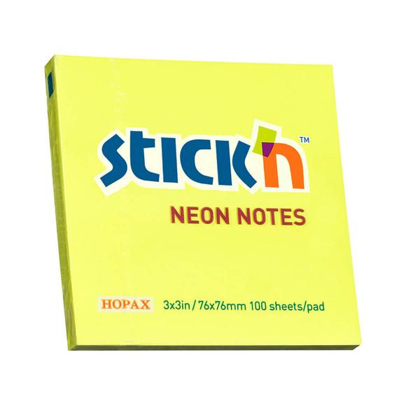 Stickn Yapışkanlı Not Kağıdı 76X76 Sarı 21133