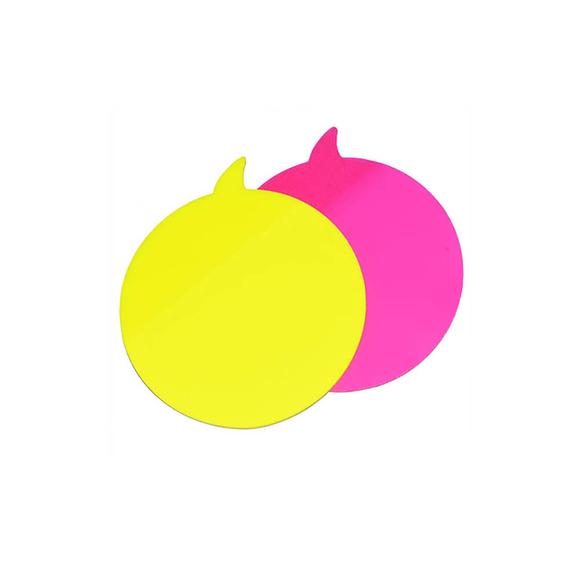 Stickn Yapışkanlı Not Kağıdı 76X76 Yuvarlak Konuşma Balon 2 Neon Renk 60 Yaprak 2113700