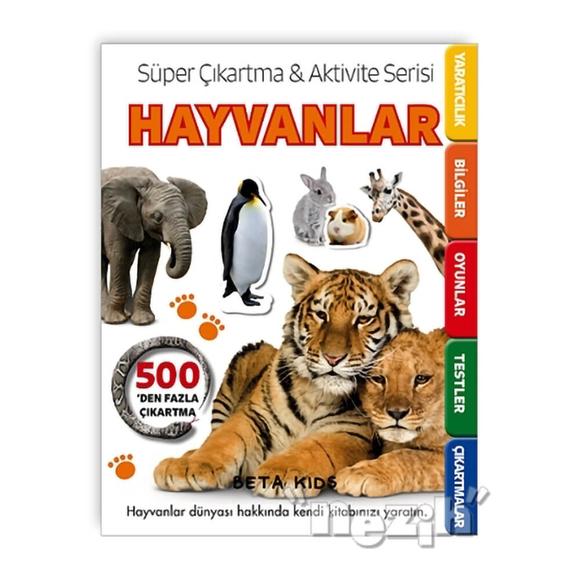 Süper Çıkartma Aktivite Serisi - Hayvanlar