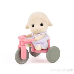 Sylvanian Families Bebek Kuzu ve Üç Tekerlekli Bisikleti ESE4561 - Thumbnail