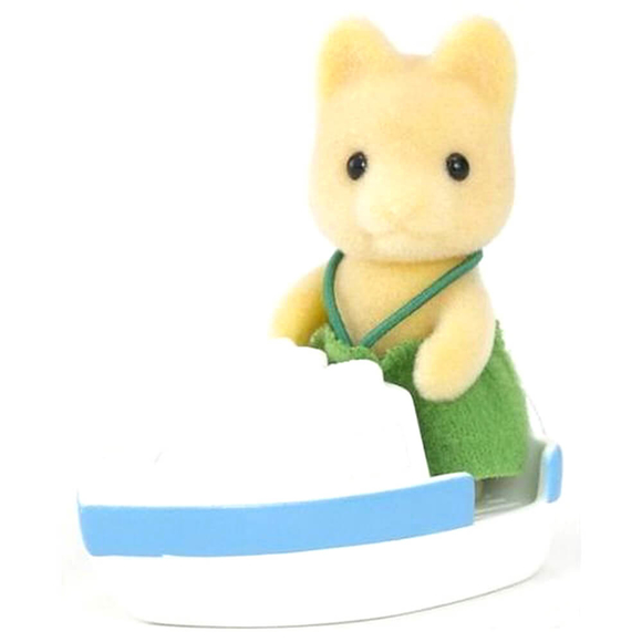 Sylvanian Families Maple Dog Baby With Boat ESE5137