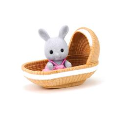 Sylvanian Families Tavşan Bebek ve Beşiği ESE4558 - Thumbnail
