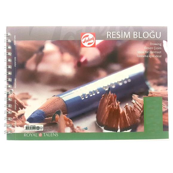 Talens Çok Amaçlı Resim Bloğu Spiralli A4 200 gr 20 Yaprak A52001