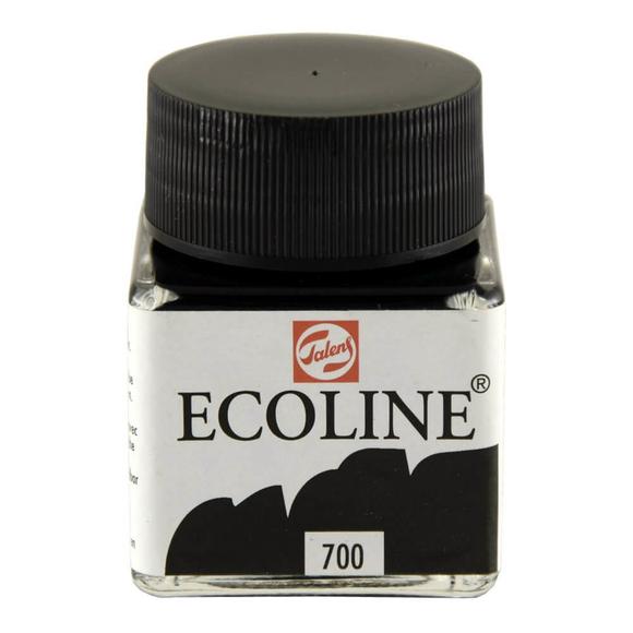 Talens Ecoline Sıvı Suluboya 30 ml Black 700