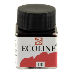Talens Ecoline Sıvı Suluboya 30 ml Carmine 318 - Thumbnail
