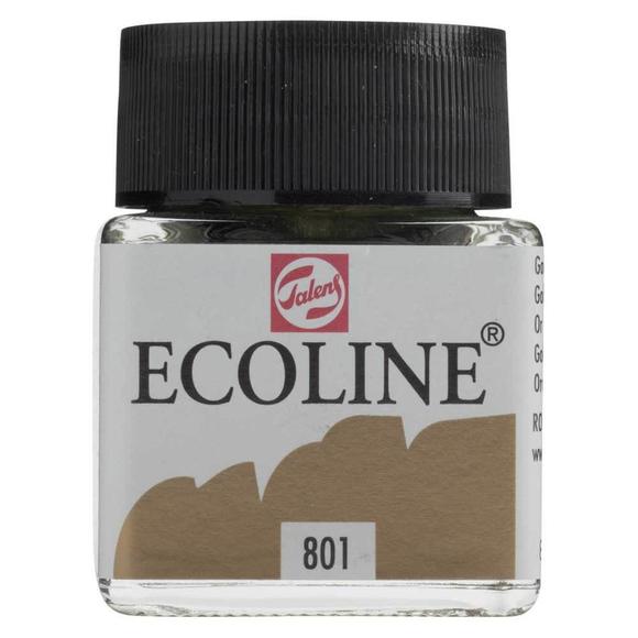 Talens Ecoline Sıvı Suluboya 30 ml Gold 801