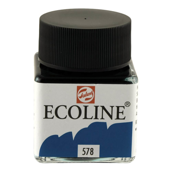 Talens Ecoline Sıvı Suluboya 30 ml Sky Blue Cyan 578