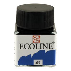 Talens Ecoline Sıvı Suluboya 30 ml Ultramarine Deep 506 - Thumbnail