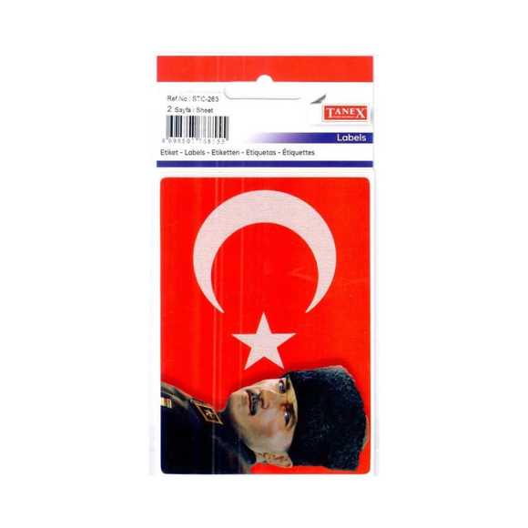 Tanex Atatürk Hologram Etiket 2 Adet STC263