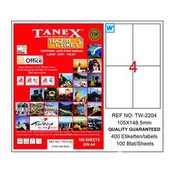 Tanex Bilgisayar Etiketi 105x148.5 mm - Thumbnail