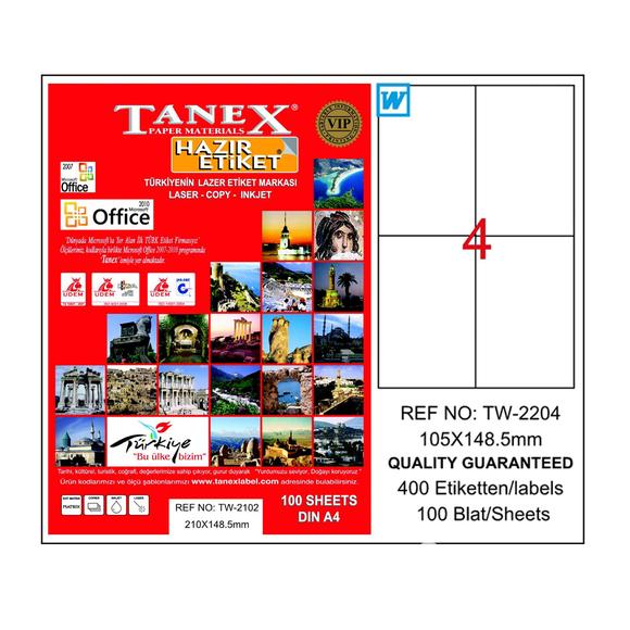 Tanex Bilgisayar Etiketi 105x148.5 mm