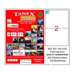 Tanex Bilgisayar Etiketi 210x148,5 mm - Thumbnail