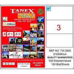 Tanex Bilgisayar Etiketi 210x99 mm Tw-2003 - Thumbnail