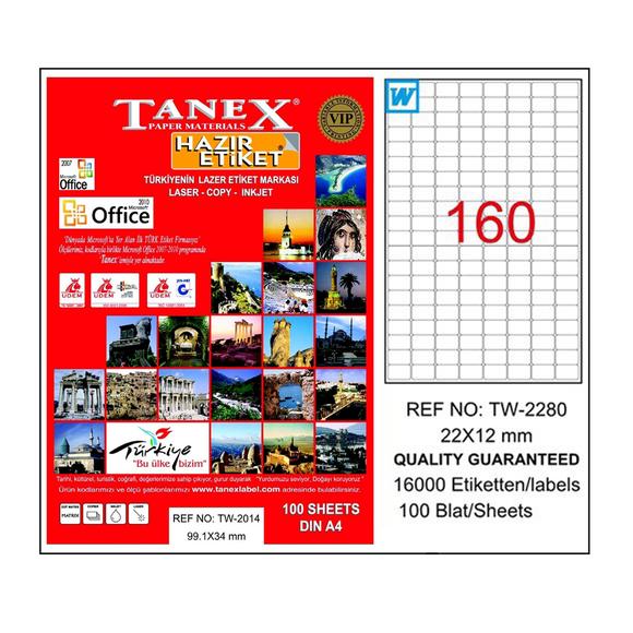 Tanex Bilgisayar Etiketi 22x12 mm