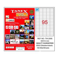 Tanex Bilgisayar Etiketi 30x12 mm - Thumbnail