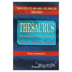 Thesaurus Dictionary Of Synonyms İngilizce Eş Anlamlı Kelimeler Sözlüğü - Thumbnail
