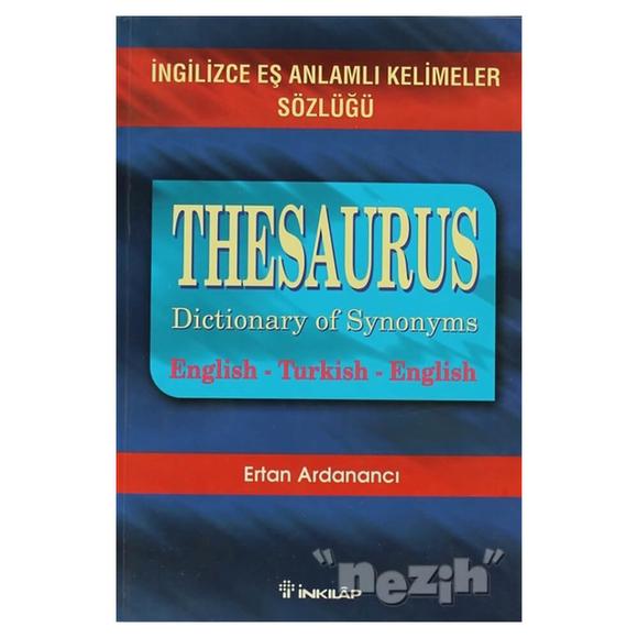 Thesaurus Dictionary Of Synonyms İngilizce Eş Anlamlı Kelimeler Sözlüğü