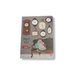 Thinkbook Zamansız Kedi Haftalık Plan Ajandası Saatler - Thumbnail