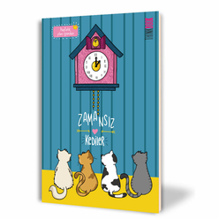 Thinkbook Zamansız Kedi Serisi - Guguklu Saat Zamansız Ajanda 14x20 cm - Thumbnail