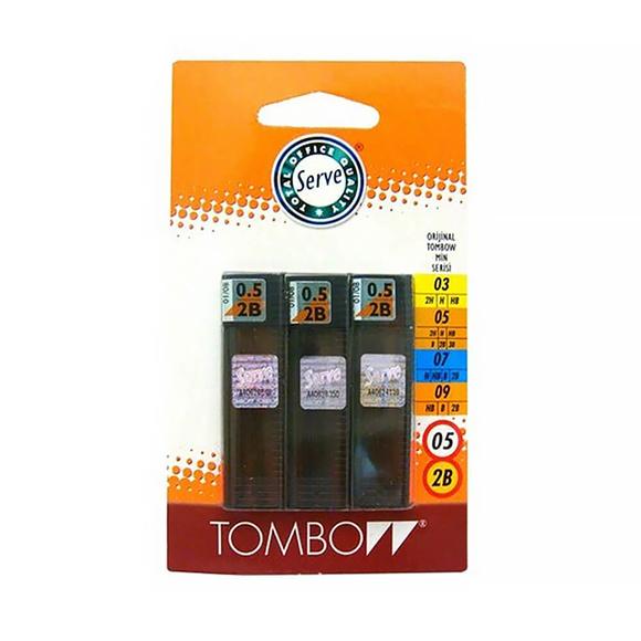 Tombow Kalem Ucu 0.5 mm 2B 3'lü Set