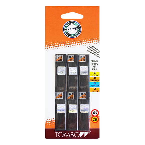 Tombow Min 2B 0.5 mm 6'lı Set