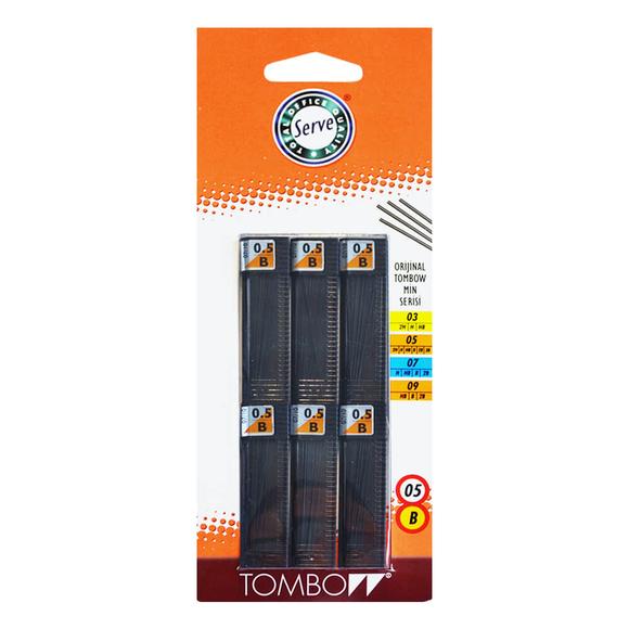 Tombow Min B 0.5 mm 6'lı Set